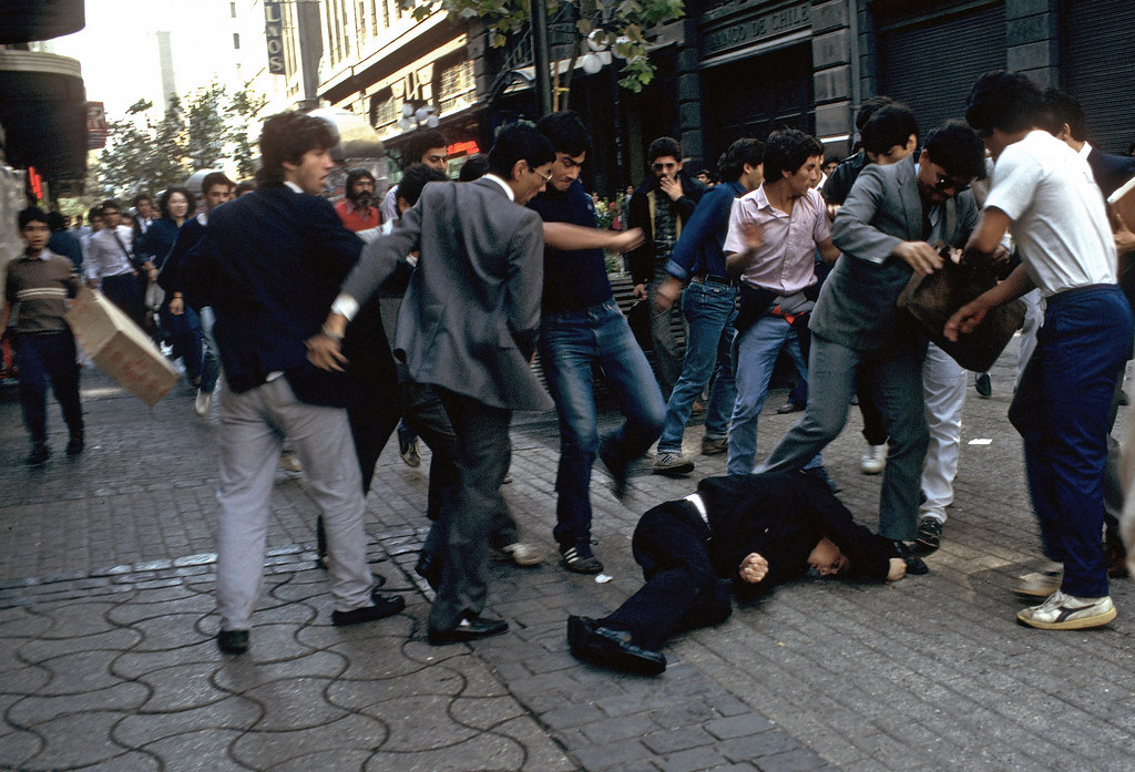 Beating an informer,  Santiago, Chile 88 | by Marcelo  Montecino