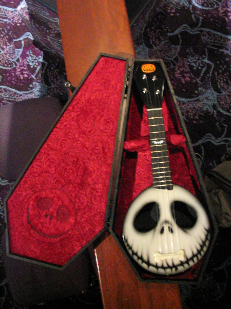 Nightmare Before Christmas Custom Ukulele  Wow, What A -6639