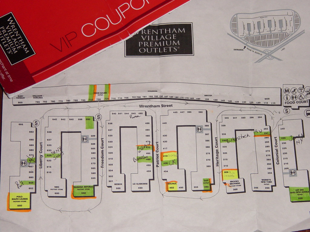 Wrentham Outlet Map Wrentham Outlet Map | Our obsessive compulsive shopping map,… | Flickr Wrentham Outlet Map