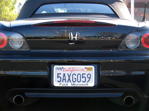 License Plate Camera >> Cool License Plate Frame | Great car, great attitude. (Seen … | Flickr