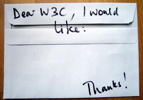 Dear W3C