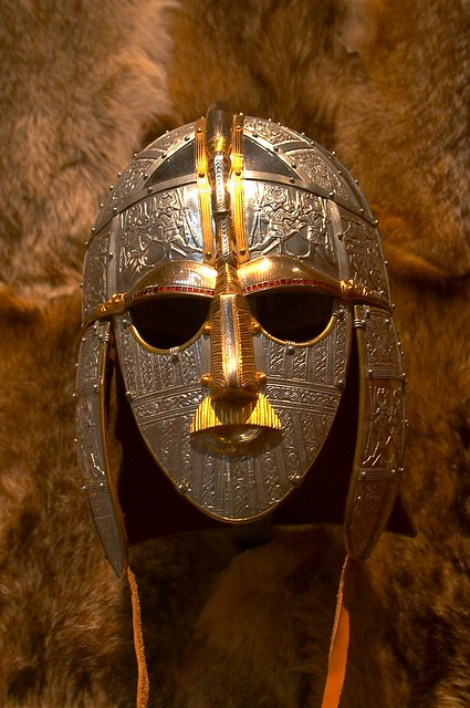 Sutton Hoo - Recreation of warriors helmet | A wonderful