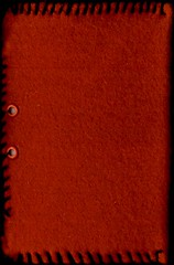 Red Fleece Journal, Front | by Cat Sidh