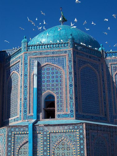Shrine of Hazrat Ali and doves | by afghanistandiary