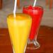 mango and strawberry shakes