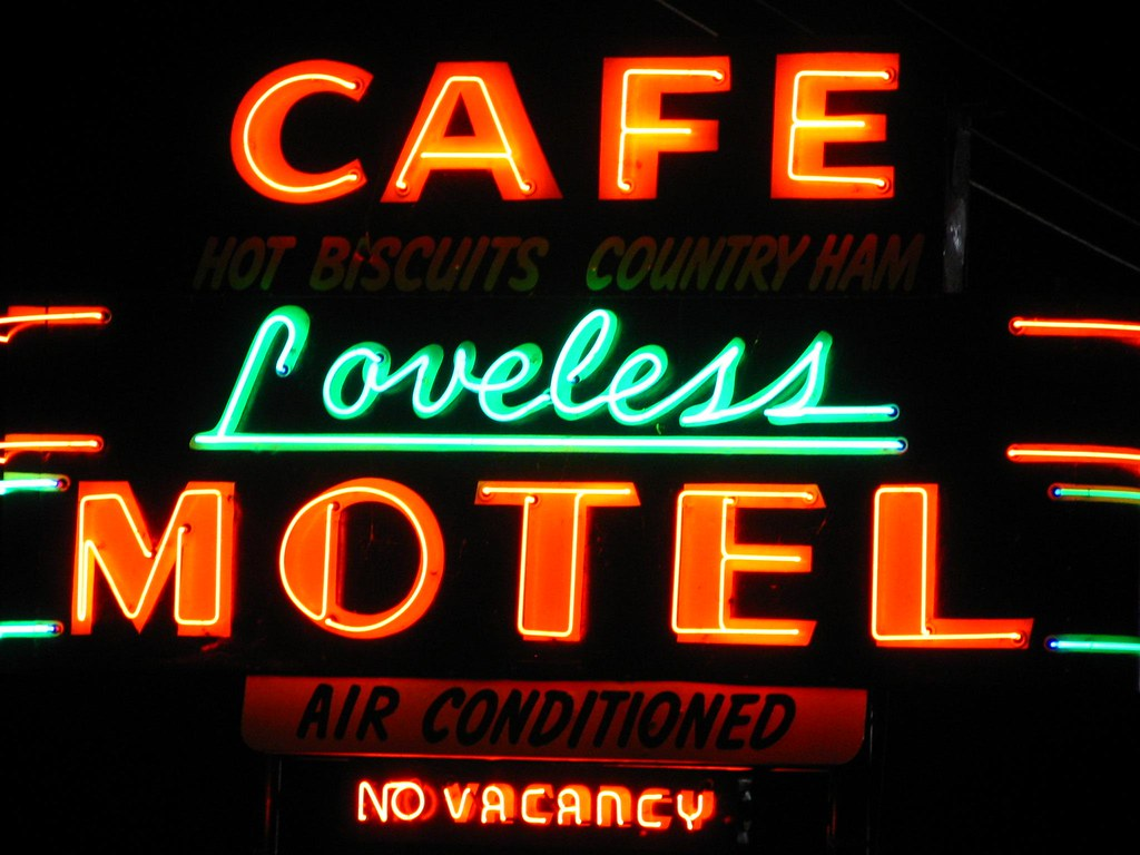 Loveless Cafe Neon Sign According To The Brochure