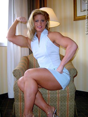 Female bodybuilding fbb bodybuilder muscle art 3