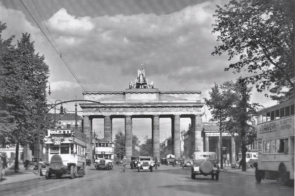 berlin 1932 the famous brandenburg gate in the center of b flickr. Black Bedroom Furniture Sets. Home Design Ideas