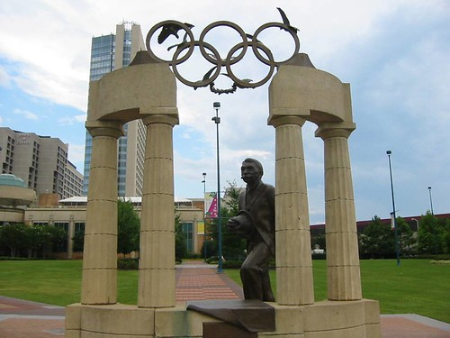Baron Pierre de Coubertin, Founder of the new Olympic Games, Olympic Centennial Park, Atlanta, Georgia | by hanneorla