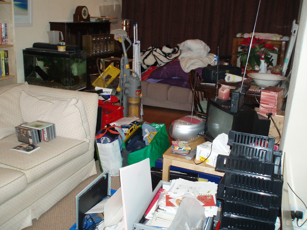 Living Room Clutter Free