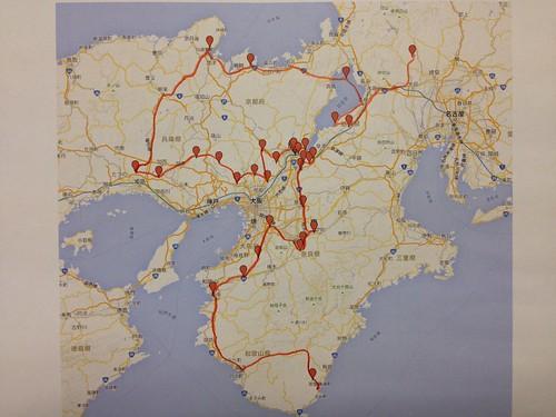 西国三十三所巡礼地図