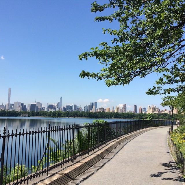 Det är 27 grader i New York så vi har legat och solat i Central Park.