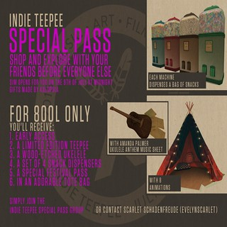 Indie Teepee Special Pass Advert