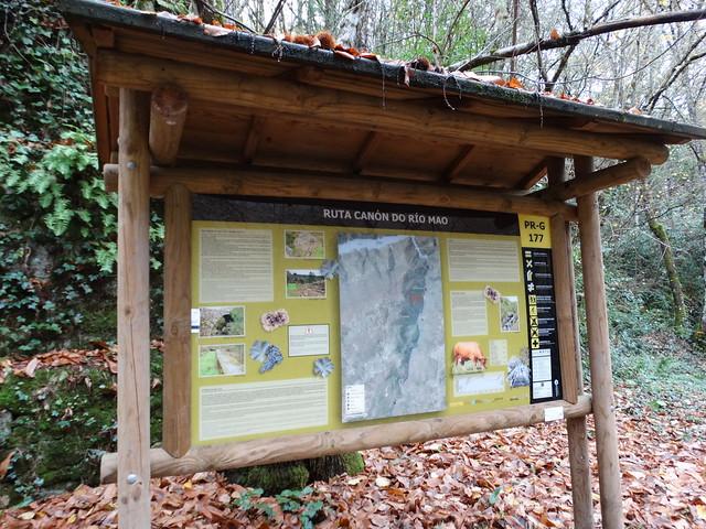Panel Informativo PR-G 177 Ruta Canón do río Mao