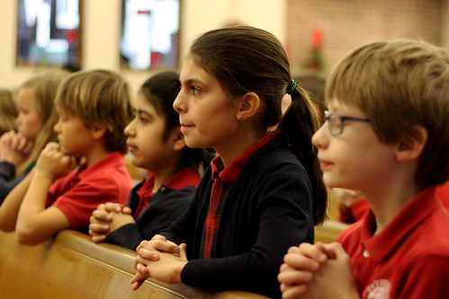 Bishop Walkowiak visits St. Stephen Catholic School