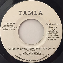 MARVIN GAYE:A FUNKY SPACE REINCARNATION(LABEL SIDE-A)