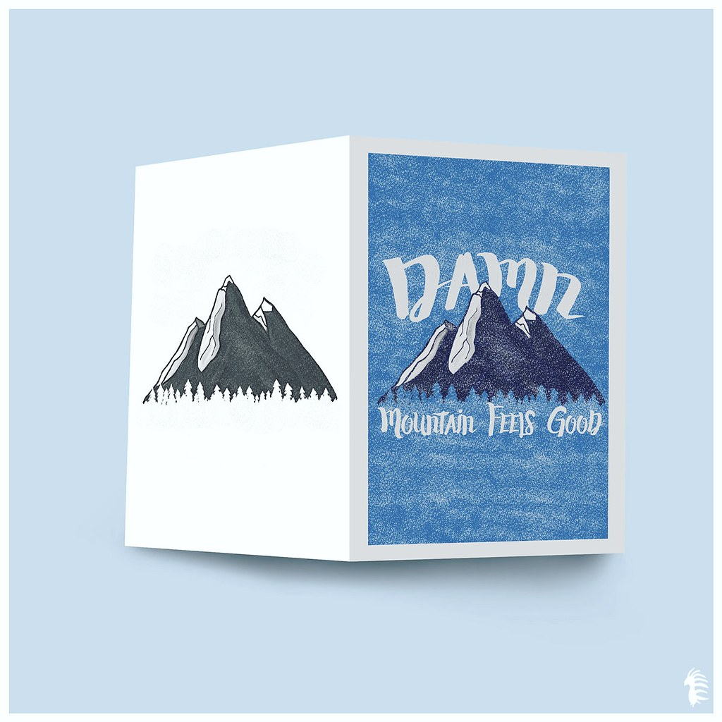 Mountain feels good illustration