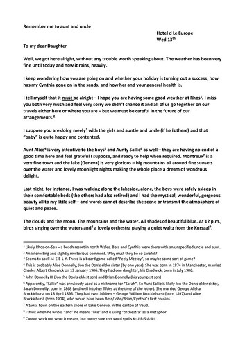 16.5 - Jon D2 to Bess letter - transcript - page 1 of 2 | by The Jolly Pilgrim
