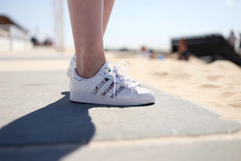Adidas Superstar Roze Met Bloemen