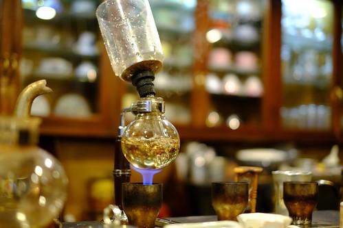 カフェ・カルディ(横浜・綱島の喫茶店):サイフォン