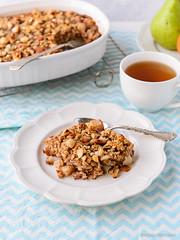 Pear, Macadamia & Coconut Baked Oatmeal