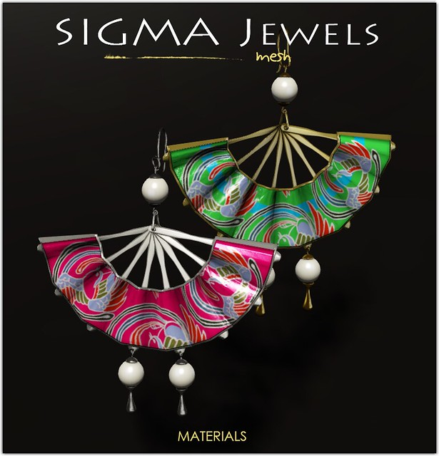 SIGMA Jewels/ Japan fan earrings