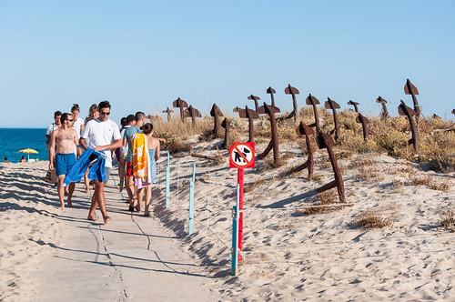 La Praia do Barril y el cementerio de anclas