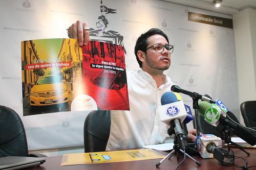 """30 Enero 2017 Rueda de Prensa Dip. Alejandro Hermosillo """"Irregularidades y exigencias del proceso de concesiones de taxis"""""""