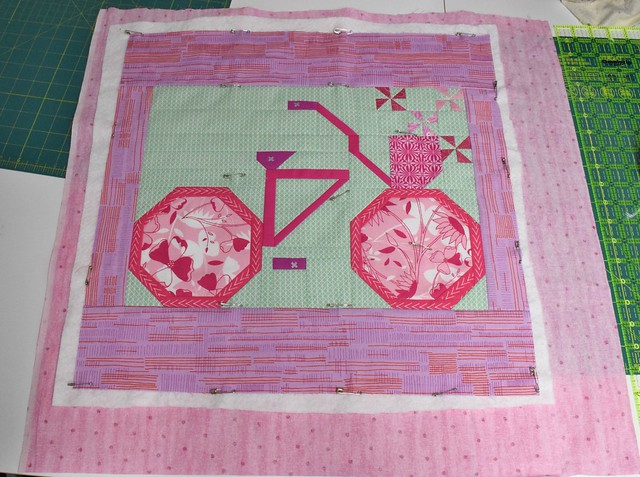 pink swap ready to quilt