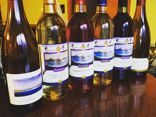 Fingerlakes wine tasting! Look at the pretty bottles we bought! #wine #yum #fingerlakes