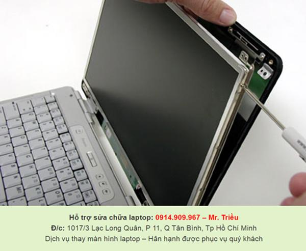 Làm thế nào khi màn hình laptop xảy ra trục trặc, nơi nào sửa chữa chính hãng ở tại HCM?