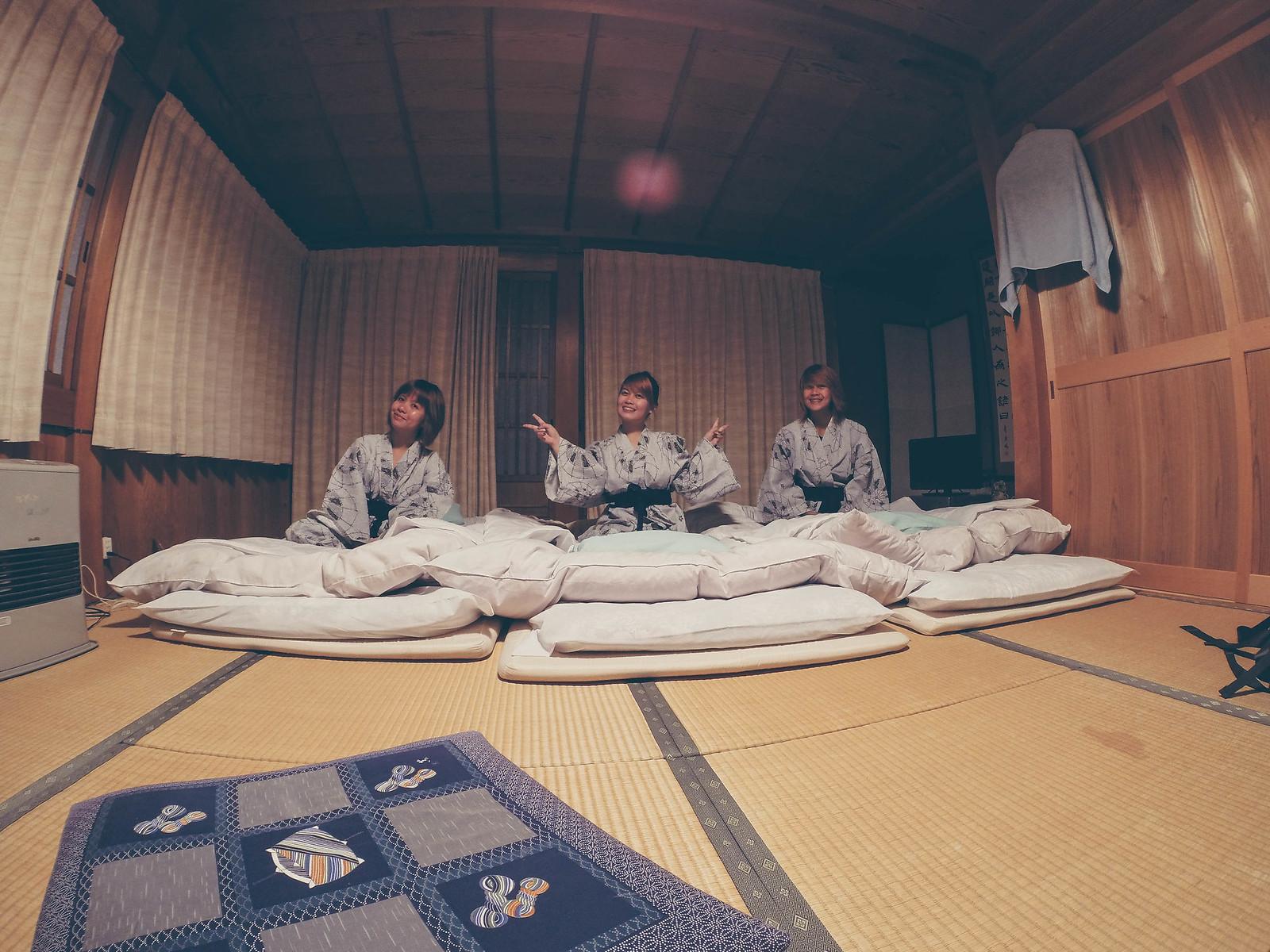 traditional Japanese room at Yokichi in Shirakawa-go