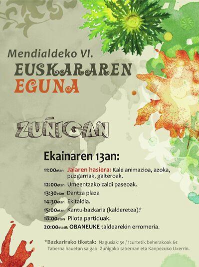 Euskararen eguna Zuñigan