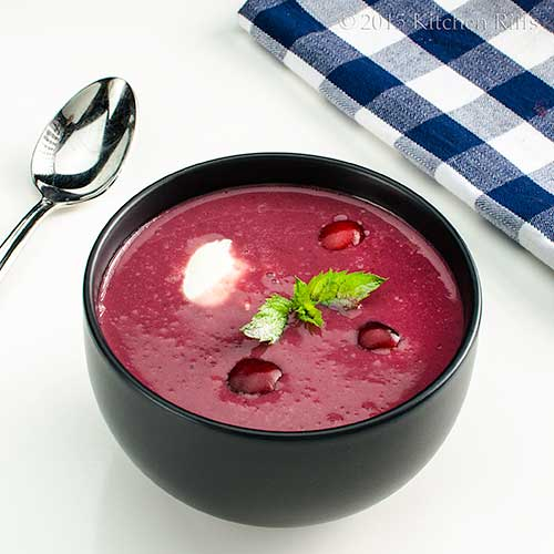 Hungarian-Style Cold Cherry Soup