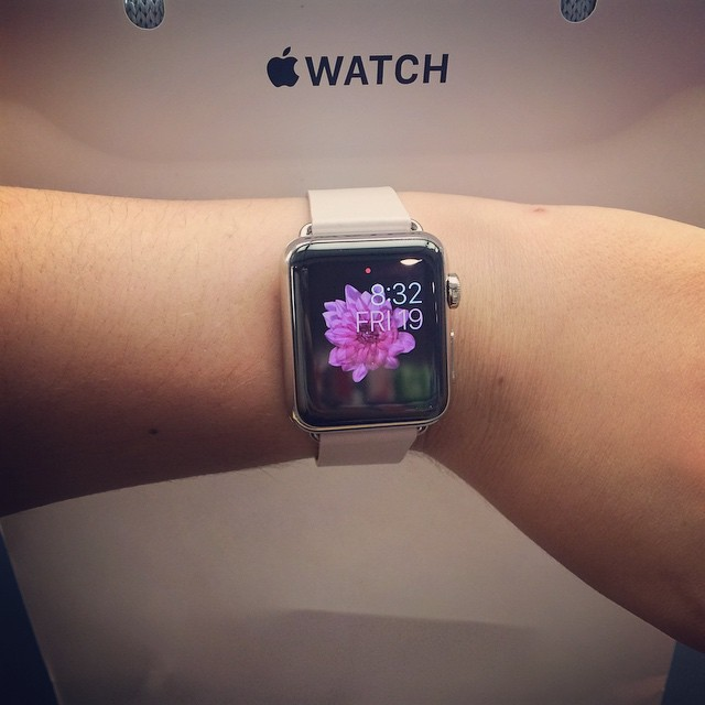 This just happened! #applewatch #applewatch38mmpink