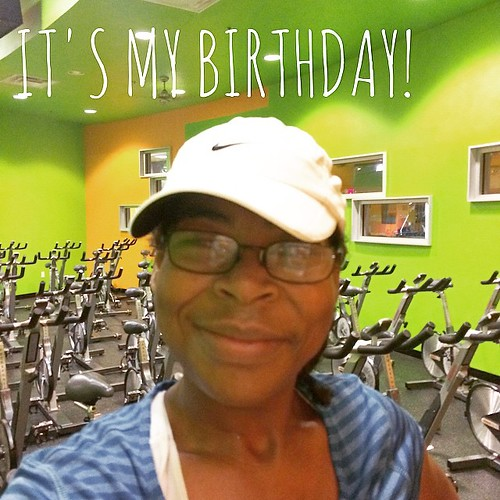 It's my #birthday! I started off my day by teaching my cycle class. The big question today is, should I have birthday cake? #fitness #webeatfat #fitspo #fitfluential #fitfam #sweatpink
