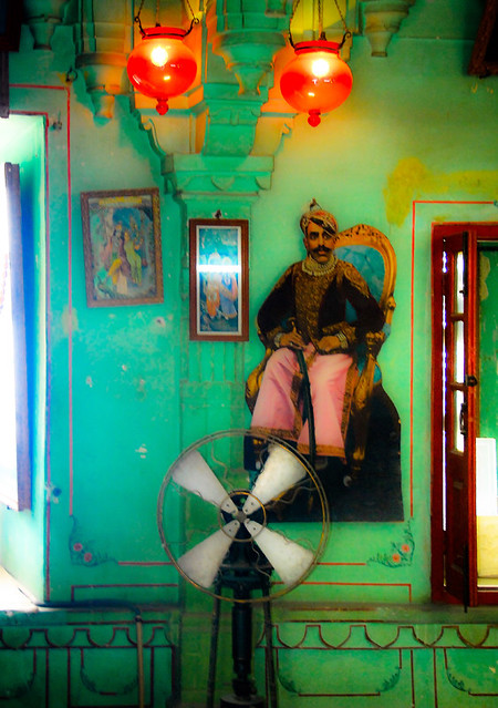 The green room of an Indian prince run through Photoshop Express