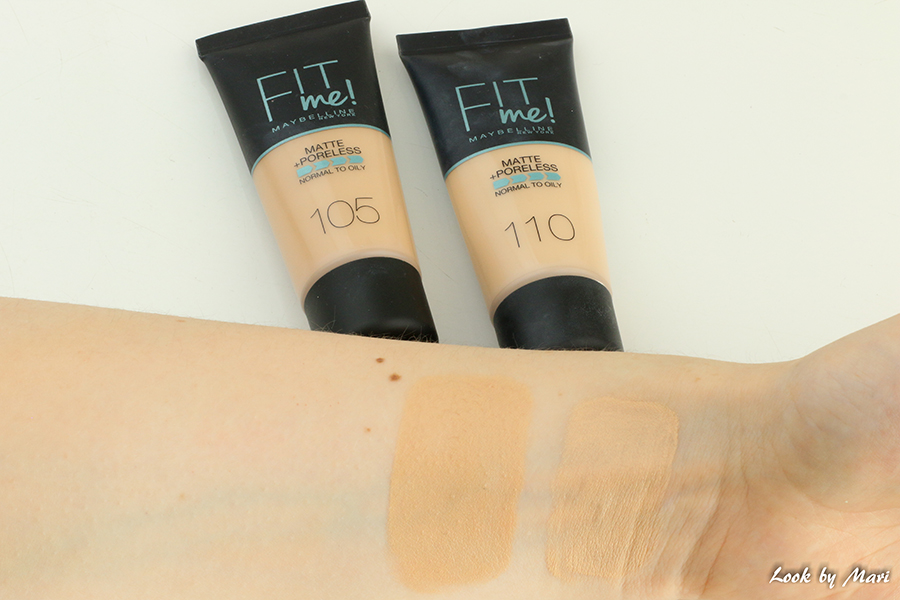 4 maybelline fit me matte + poreless foundation shades review swatches