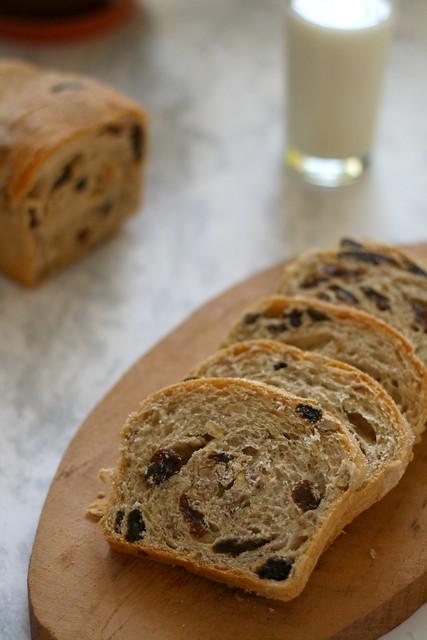Pan de canela rebanado