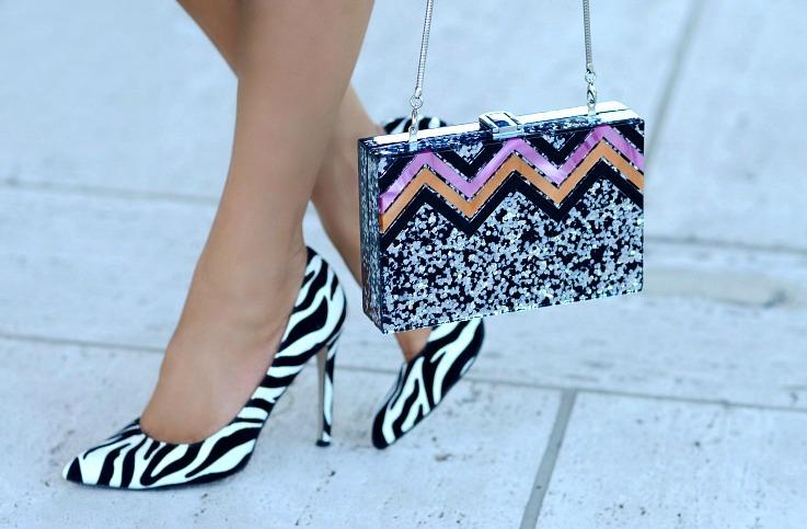 DSC_5288 Tamara Chloé, Zebra Printed Heels, Zara Glitter Box bag2