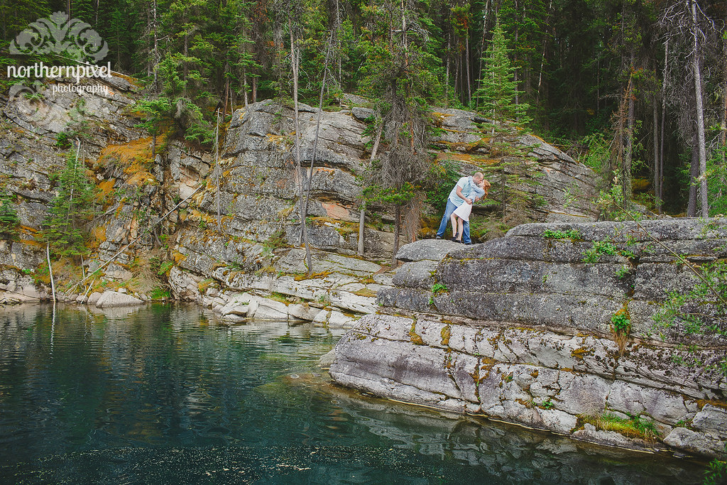 Lakeside Engagement Session Horseshoe Lake Jasper Alberta Elopement Wedding