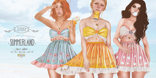 :Moon Amore: Summerland Skirt & Top @c88