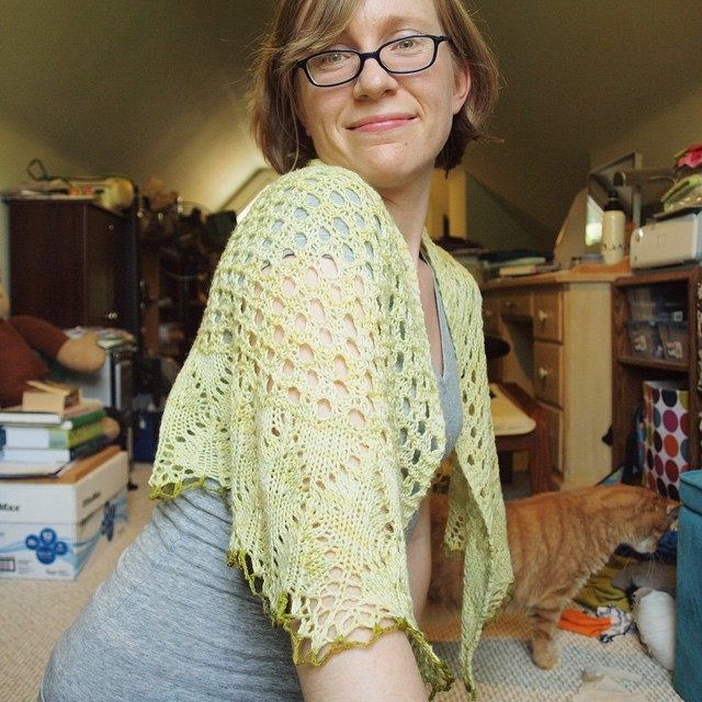 Very very happy with my new shawl!