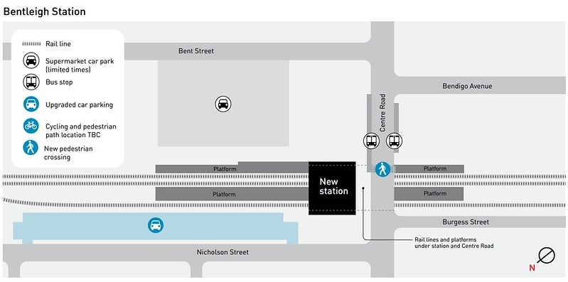 Plan for new Bentleigh station (as at May 2015)