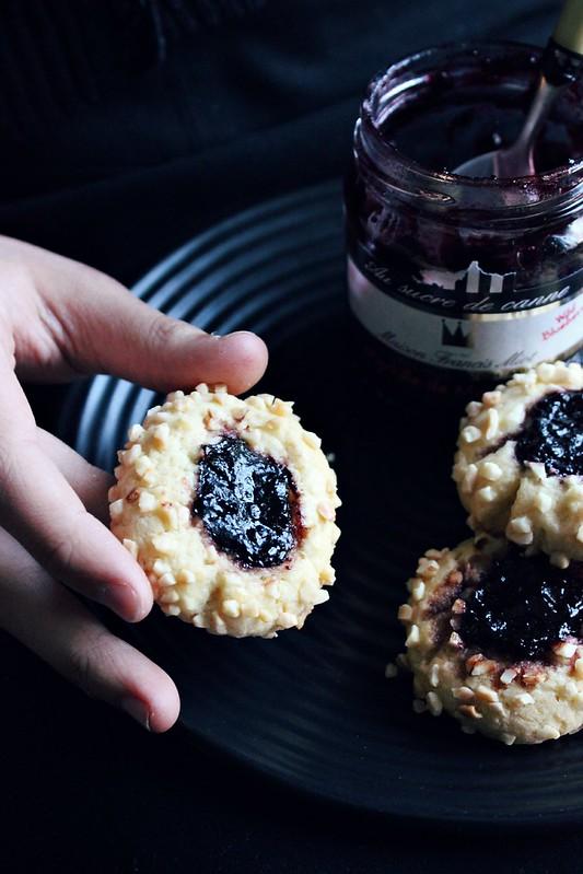 Jam Thumbprint Almond Cookies