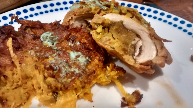 Onion Bhaji and tandoori mushroon