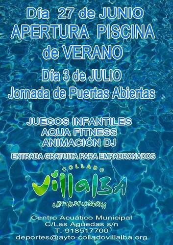 Se abren las piscinas municipales for Piscina collado villalba