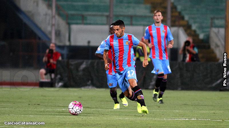Tortolano durante Catania-Spal, unica presenza ufficiale.