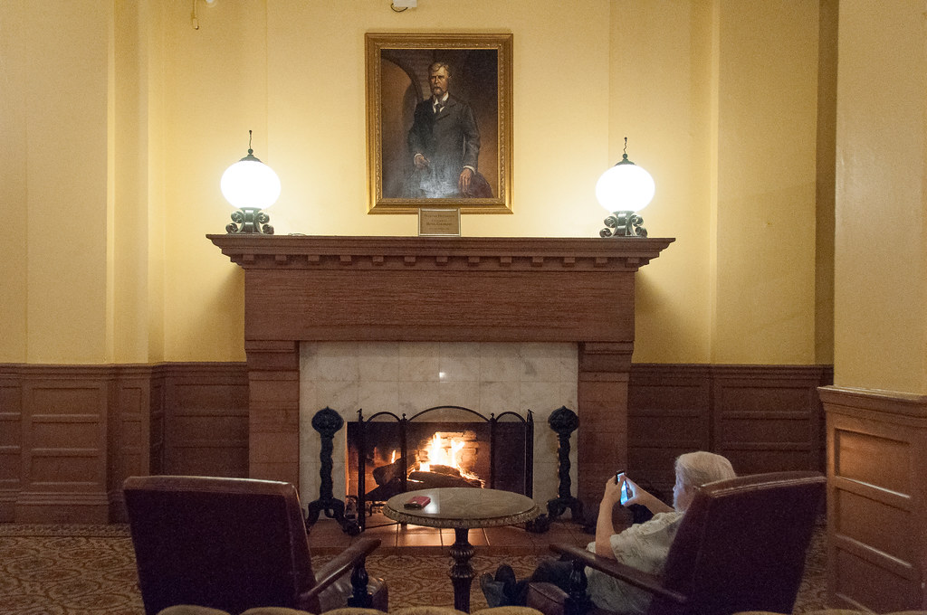 Reading By The Fireplace Hotel Colorado Glenwood Springs Flickr