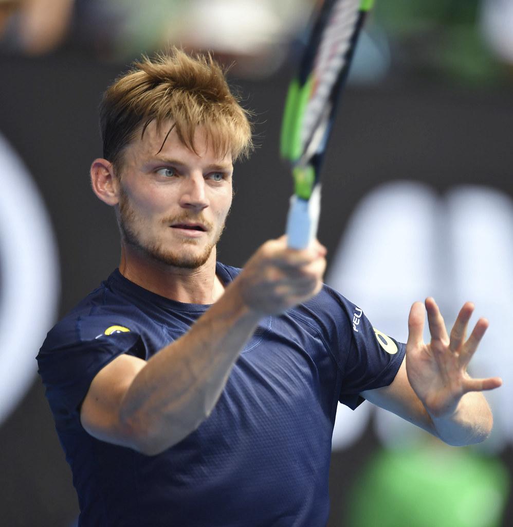 ATP年終賽亞軍David Goffin面臨台維斯盃決賽的極大挑戰。(達志影像資料照)